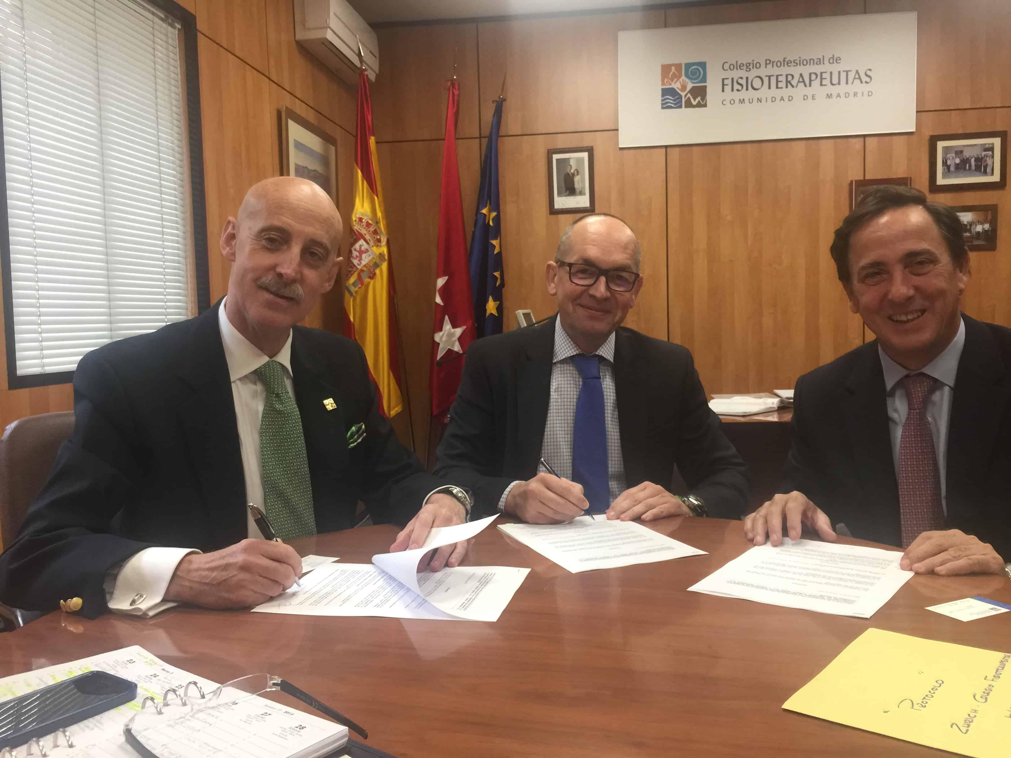 Howden Iberia firma dos convenios con el Colegio de Fisioterapeutas de Madrid