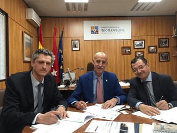Acuerdos de colaboración con el Colegio Profesional de Fisioterapeutas de Madrid